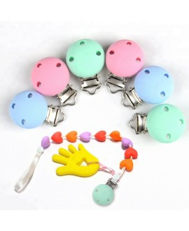 Rainbow Silicone Pacifier Clip